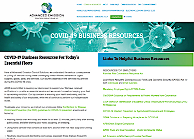 Health Regs & Resources Web Page Portfolio Example
