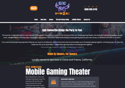 Epic Games2Go Homepage