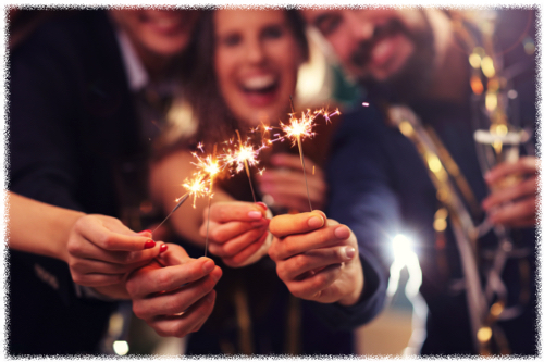 Sparklers at Party